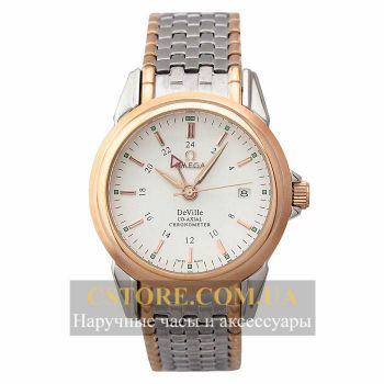 Часы Omega DeVille Co - Axial Chronometer Gold White (06344)