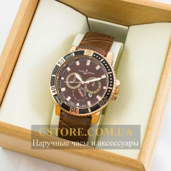 Часы Ulysse Nardin gold brown (06457)