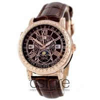Кварцевые часы Patek Philippe Sky Moon gold brown (06718)
