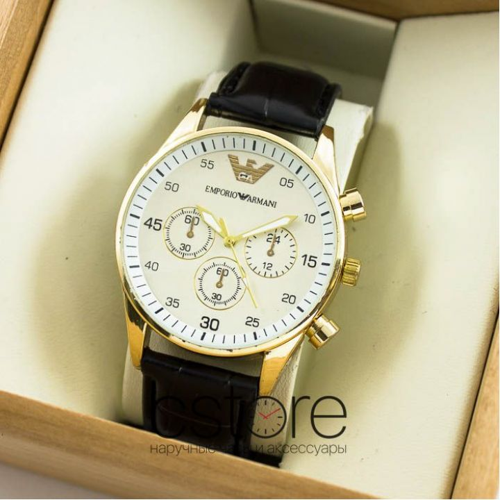 Часы Emporio Armani gold white (06767)