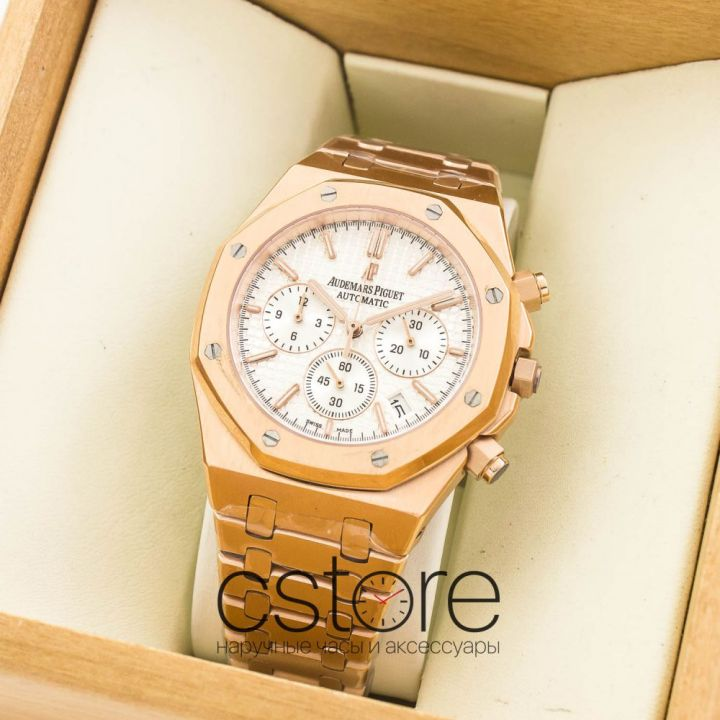 Часы Audemars Piguet Royal OAK  gold white (07554)