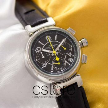 Часы Louis Vuitton Crystal Chrono  LV 277 silver black (05015)