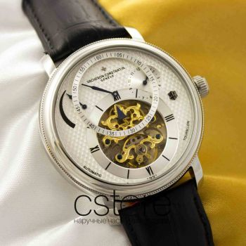 Часы Vacheron Constantin Automatic Tourbillon silver white (05073)