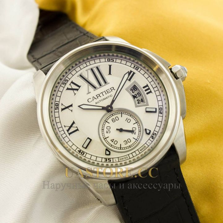 Часы Cartier Automatic silver white (05185)
