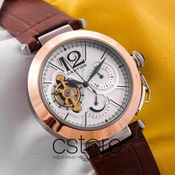 Часы Cartier Pasha de Cartier gold white (05336)