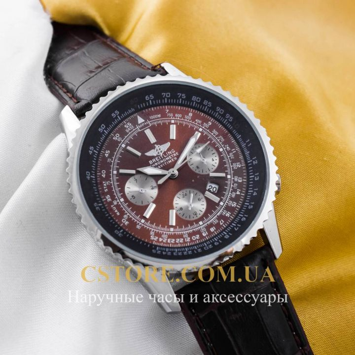 Кварцевые часы Breitling Chronometre Navitimer silver brown