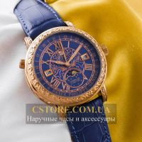 Кварцевые часы Patek Philippe Sky Moon gold blue (05899)