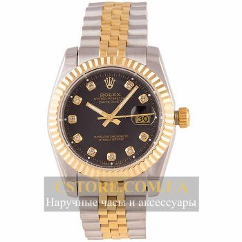 Часы Rolex Perpetual Date Just gold black (05805)