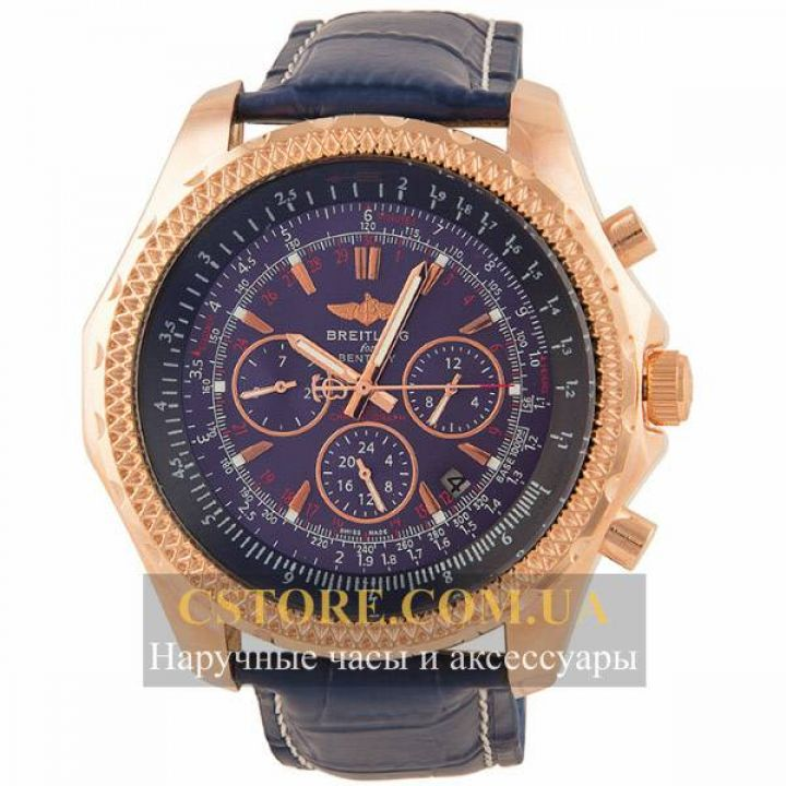 Часы Breitling for Bentley gold blue (05833)