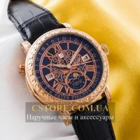 Кварцевые часы Patek Philippe Sky Moon gold black (05904)