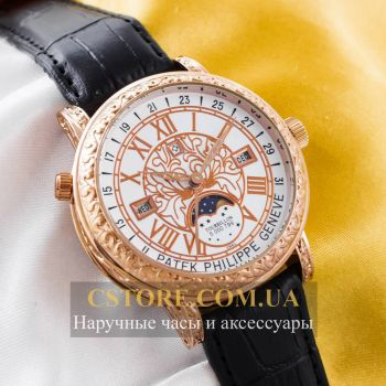 Кварцевые часы Patek Philippe Sky Moon gold white (05905)