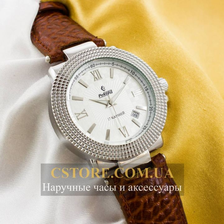 Часы Рекорд brown silver white (05945)
