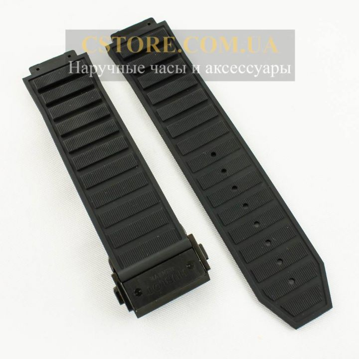Ремешок Hublot Big Bang King Power black с застежкой black 24mm (06134)